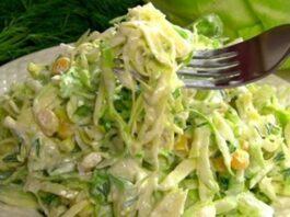 Kopūstų salotos, kurios padės numesti svorio. Išbandykite!