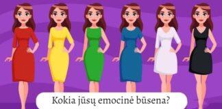 Pasirinkite suknelę ir sužinokite, kokia šiuo metu jūsų emocinė būsena