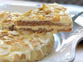 Populiarus migdolų pyragas. Labai skanus ir prabangus desertas
