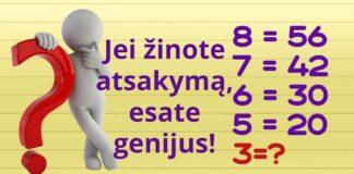 Matematinės užduotys, kurias išspręsti gali tik genijai!