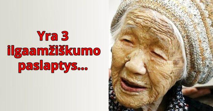 Ilgaamžiškumo paslaptys, kurias atskleidė 118 metų japonė