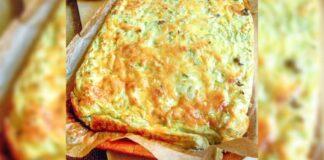 Cukinijų užkepėlė su sūriu. Lengvas ir gardus patiekalas