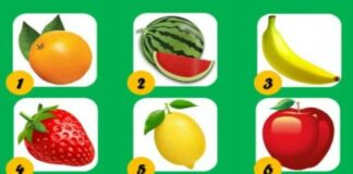 Testas: pasirinkite vaisių ir sužinokite šį tą svarbaus apie save