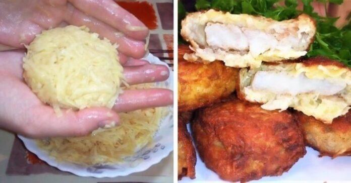 Žuvis bulvių tešloje. Neįprastas, bet labai skanus patiekalas