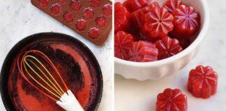 Marmeladiniai braškių saldainiai su agaru pavergs jūsų širdis