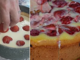Minkštas ir purus braškių pyragas. Pasimėgaukite!