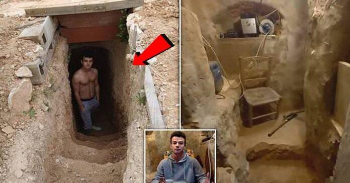 Po ginčo su tėvais 20-metis ispanas kieme išsikasė skylę ir įsirengė savo rūsį
