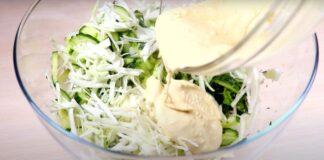 Lengvos šviežių kopūstų salotos. Tokios skanios, kad valgysite jas vienas