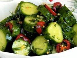 Traškūs agurkai, kurie tiks prie bet kokių grilio patiekalų