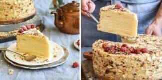 """Tortas """"Napoleonas"""" su varške. Dieviško skonio desertas kitaip"""