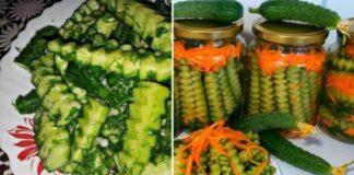 Agurkų ir morkų salotos žiemai. Labai skanus ir gražus patiekalas