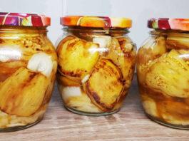 Šašlykų skonio baklažanai, naujas būdas konservuoti daržoves