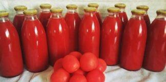 Naminės pomidorų sultys. Sveikas ir labai skanus gėrimas