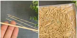 Originalus ir gražus būdas, kaip panaudoti medinius pagaliukus