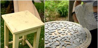 Idėja, kaip seną taburetę paversti prašmatniu stalu