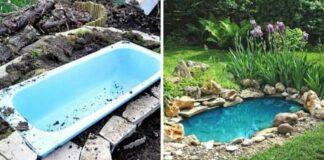 Užuot išmetę seną vonią, padarykite iš jos sodo dekoraciją