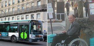 Niekas autobuse nepadeda neįgaliojo vežimėlyje sėdinčiam asmeniui. Vairuotojo žodžių keleiviai ilgai nepamirš