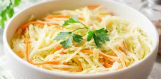 Kopūstų salotos su morkomis. Prisiminsite jas iš mokyklos