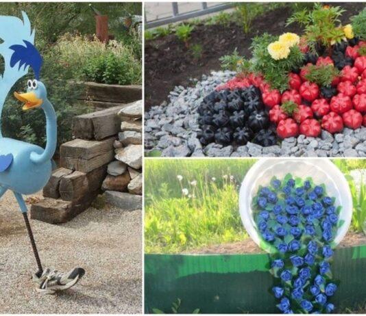 Nustebinkite savo kaimynus žavingu sodo dekoru, pagamintu iš paprastų plastikinių butelių