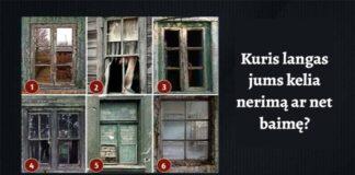 Testas: kuris langas jums kelia nerimą ar net baimę?