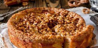 Labai skanus obuolių pyragas su riešutais: norėsis dar ir dar