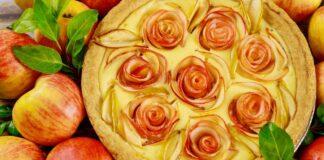 """Prabangus obuolių pyragas """"rožės"""". Papuoškite savo stalą"""