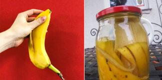 Bananų žievelės užtenka, kad būtų sukurta labai paprasta trąša vazoniniams augalams