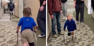 Dvimetis neteko kojos... Tačiau gavus protezą sulaukė netikėto palaikymo