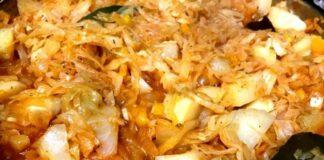 Troškinti kopūstai su bulvėmis. Ypatingo skonio patiekalas